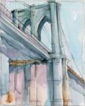 Watercolor Bridge Study II