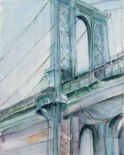 Watercolor Bridge Study I